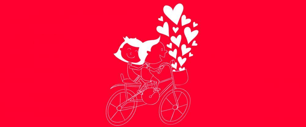saint valentin à velo