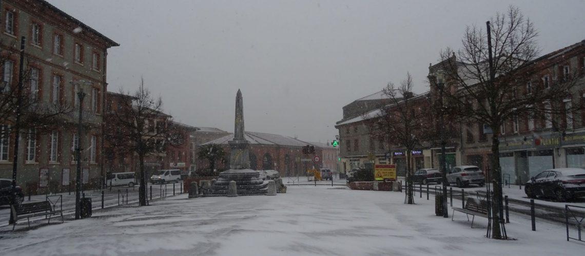 Rieumes sous la neige