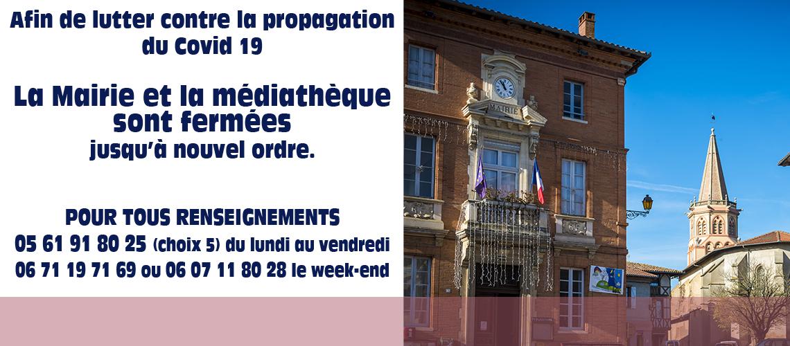 Covid 19 fermeture mairie2
