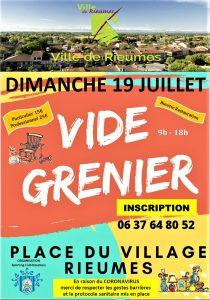VIDE-GRENIERS DU SCR DIMANCHE 19 JUILLET
