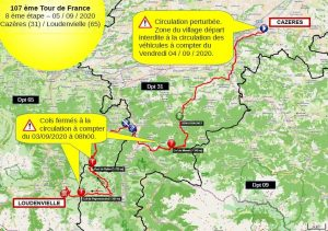 INFORMATION TOUR DE FRANCE / PASSAGE A CAZERES SAMEDI 5 SEPTEMBRE