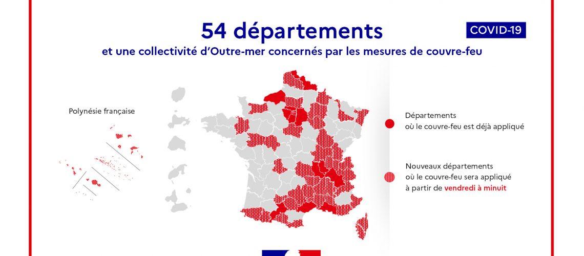 carte 54 départements covid couvre feu