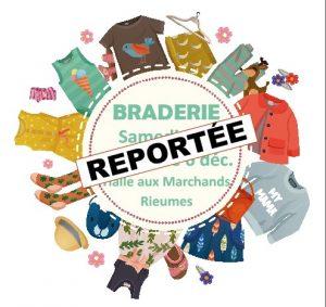 BRADERIE DE DECEMBRE REPORTEE