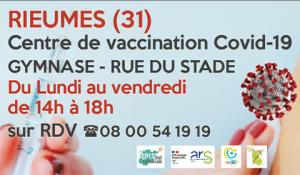 Le centre de vaccination se déplace au gymnase dès le 29 mars
