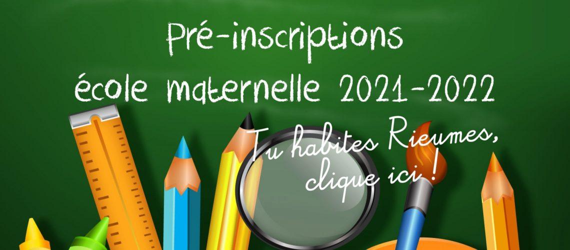 inscriptions scolaires 2021-2022 carrousel