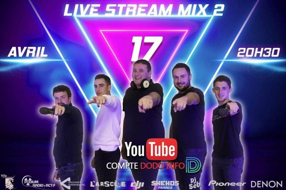 Retransmission exceptionnelle du live stream mix 5 DJ