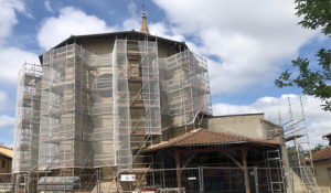 Avancée des travaux de la dernière tranche de l'Eglise Saint-Gilles
