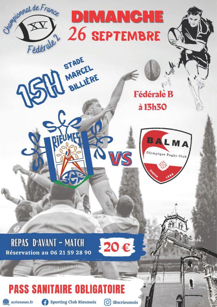 Matchs de rugby SCR vs BALMA